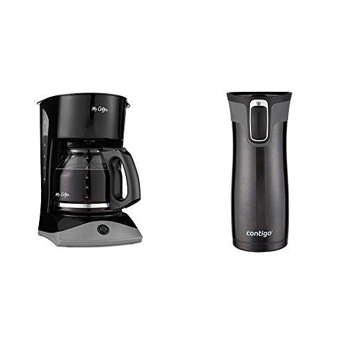 Mr Coffee 12-Cup SK13 Manual Coffeemaker Insulated Travel Mug