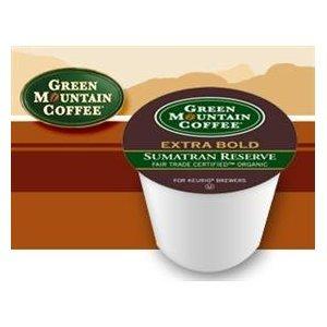 Green Mountain Fair Trade Organic Sumatran Reserve Extra Bold Coffee 2 Boxes of 24 K-Cups