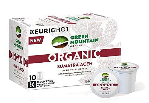 Green Mountain Organic Coffee K-cups Sumatra Aceh Dark Roast 60 K-Cups