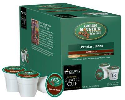 Green Mountain Coffee K-Cups Breakfast Blend 18 Count