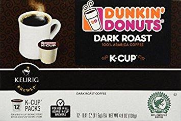 Dunkin Donuts K-cups Dark Roast - 96 K-cups