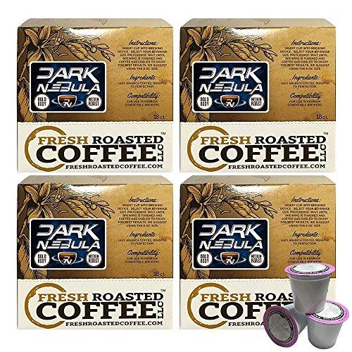 Dark Nebula Artisan Blend Single-Serve Coffee Pods 72 Capsules for Keurig K-Cup Brewers Fresh Roasted Coffee LLC 72 Count