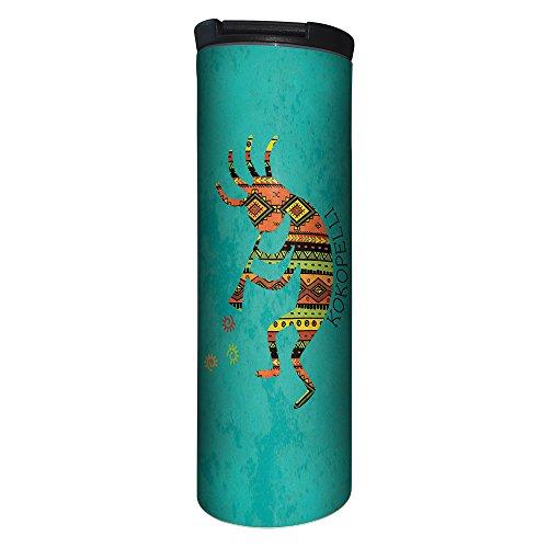 Tree-Free Greetings BT21316 Barista Tumbler Vacuum Insulated Stainless Steel Travel Coffee MugCup 17 Ounce Vibrant Kokopelli