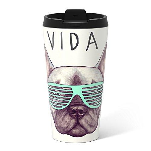 Society6 French Bulldog - Livin La Vida Frenchie Metal Travel Mug 15 oz