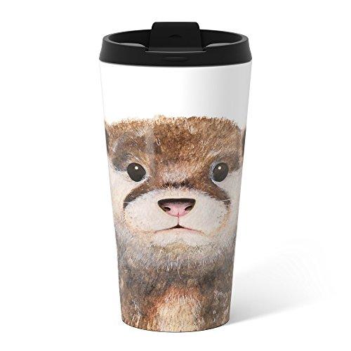 Society6 Little Otter Metal Travel Mug 15 oz