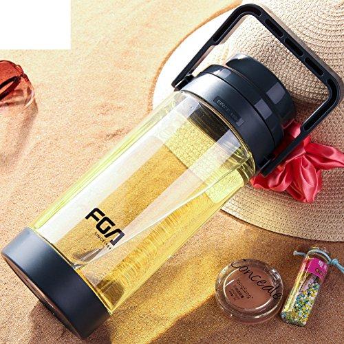 Space CupLarge-capacity outdoor sports water bottlesLarge plastic portableTea cupCup water-B