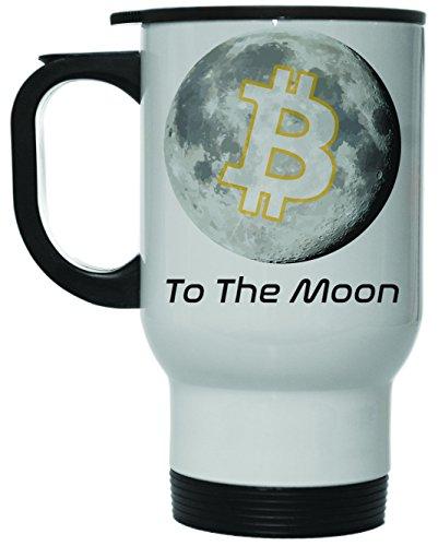 Bitcoin to the Moon 12 oz Hot Cold Travel Mug