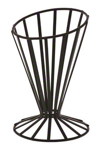 American Metalcraft FWB4 Wrought Iron Slanted French Fry Basket Black by American Metalcraft