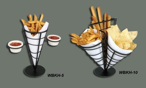 Winco WBKH-5 French Fry Basket 4-58 diameter x 9-38 H round - Case of 12