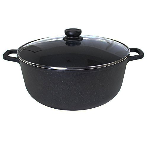 ALPHA Cast Aluminium Nonstick Marble Stone Coating Stock Pot 15 Qt