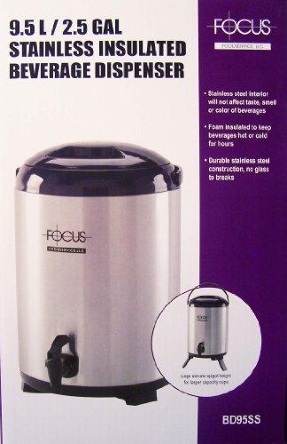 Focus BD95SS 95-liter Insulated Beverage Dispenser Stainless