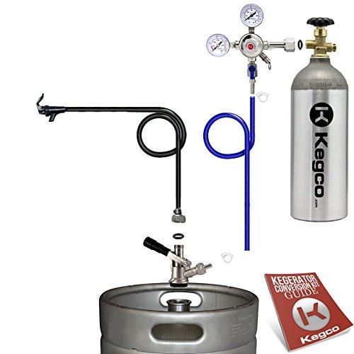 Kegco BF S1PK-5T Standard Party Beer Dispenser Keg Tap Kit Black
