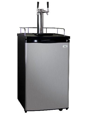 Kegco K199SS-2 Kegerator Beer Dispenser - Double Faucet - D System - Stainless Door