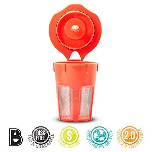 Brewooze Keurig Carafe Kcup — Reusable Refillable K Cup — Carafe Keurig Coffee Filter Crafted for K500 K400 K300 and K200 Models