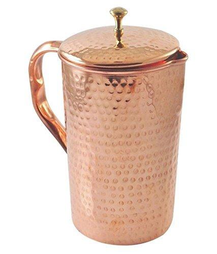 Pure copper pitcher- Copper Jug- Copper water pitcher-Copper waterCopper Water pitcher  Copper pitcher Copper water jug for health benefits Hammered Hammered
