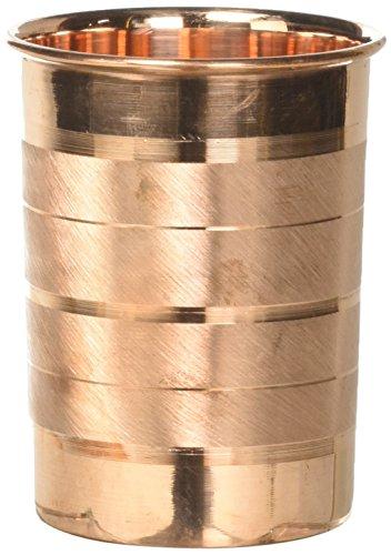 Daksh craft  Handmade Pure Copper Tumbler Glass Set Of 3