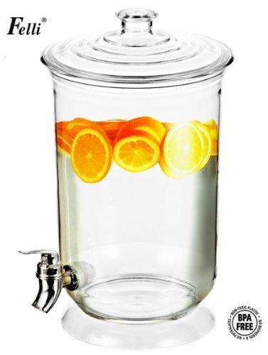 Felli- Crystal Clear Acrylic Beverage Dispenser