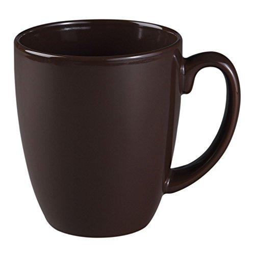 Corelle Livingware 11-Oz Chocolate Stoneware Mug Set of 4
