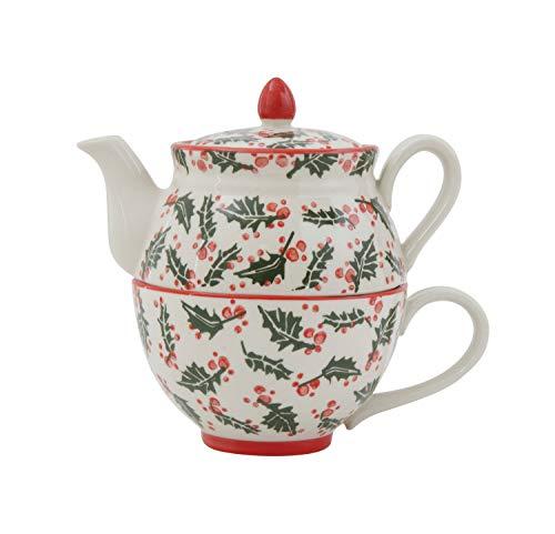 Creative Co-op Stoneware Mug Set of 2 Pieces Teapot White
