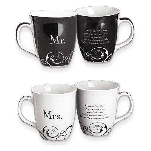 Jewelry Adviser Gifts Common Grounds 16 oz Mr Mrs Stoneware Mug Set