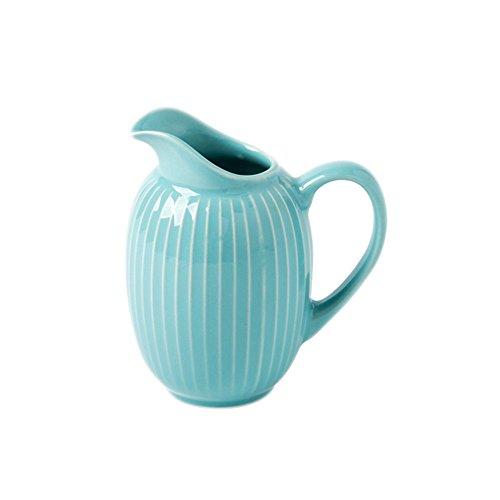CHOOLD Chic Stripe Ceramic Groove Creamer PitcherServing PitcherSauce PitcherMilk Creamer Jug with Handle for Coffee Tea 10oz