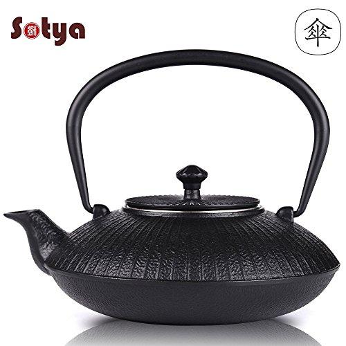 Cast Iron Teapot Sotya Tetsubin Japanese Tea Kettle Umbrella Shape Iron Teapot with Infuser 1150ml39oz