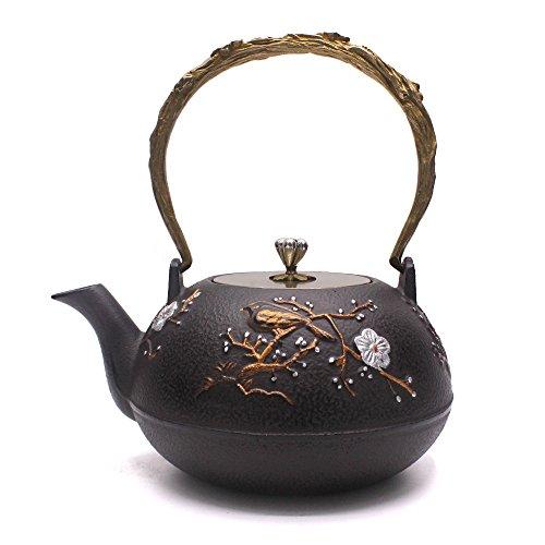 TOWA Workshop Tetsubin Iron Teapot Kettle Plum Flower 13L