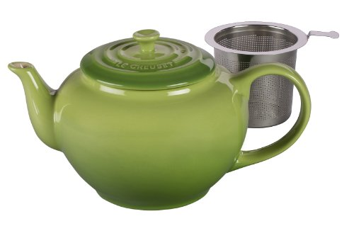 Le Creuset Stoneware Large Teapot with Stainless Steel Infuser Palm