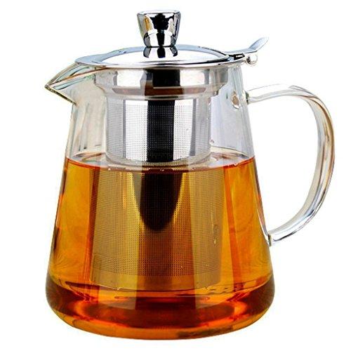 Vivoice Glass Teapot with Stainless Steel Infuser Borosilicate Glass Tea Pot for Flowering Tea Loose Leaf Tea 32 Ounce 950ml 950ml