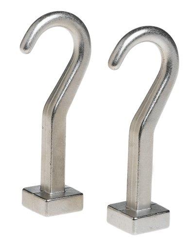 JK Adams 4-Inch Pot Hooks for Pot Rack Set of 2
