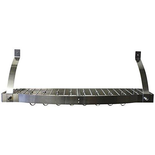 Range Kleen CW6009 Stainless Steel Pot Rack Bookshelf 12 by 36 by 10-Inch