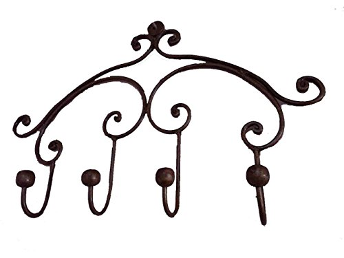 Egypt gift shops Hand Forged Wrought Iron Kitchen Wall Door Pans Pots Hats Clothing Coat Hanger