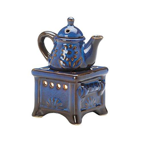Koehler Blue Teapot Stove Oil Warmer