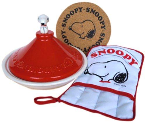 SNOOPY SET ITEMS RED Snoopy tagine pot mittens cork set SNC-3TR-CM