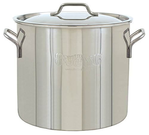 Bayou Classic Bayou Stainless Brew Kettle 30 quart Stainless Steel