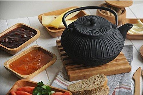 Cast İron Teapot Black Teapot Hand Painted Teapot Gift