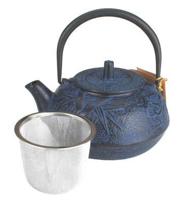 Cast Iron Teapot Tea Pot - Blue Bamboo 20 oz