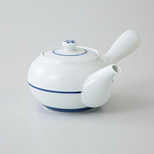 saikai pottery Kyusu Medium Japanese teapot Blue lines pattern 99259 from Japan