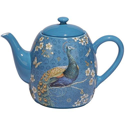 Certified International Exotic Garden Teapot 36 oz Multicolor