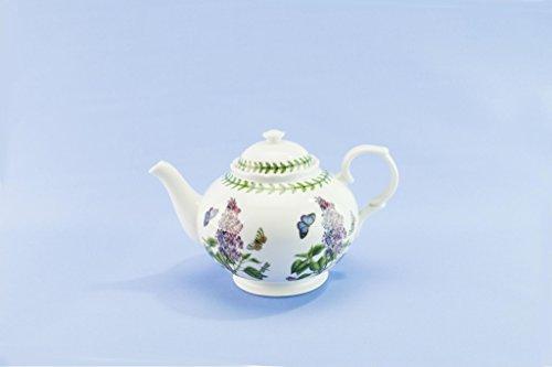 Portmeirion Botanic Garden Teapot Susan Ellis Green Bone China Medium Lilac English