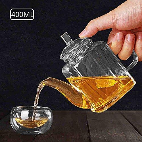 ChSukho 400ml retro glass teapot  borosilicate glass heat-resistant teapot  kung fu teapot