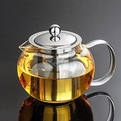 ChSukho High-borosilicate glass heat-resistant teapot  stainless steel filter  heat-transparent glass teapot 650-1300ml  950ml