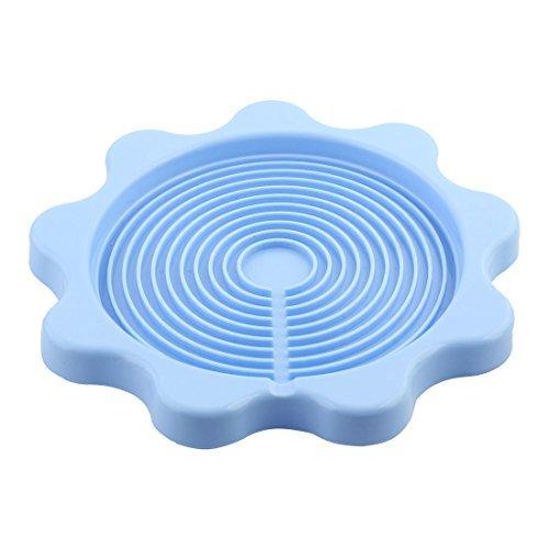 DealMux Plastic Household Kitchen Desktop Heat Resistant Teapot Bottle Kettle Coaster Light Blue