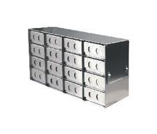 CRYSTAL - BioExcell 4x6 Upright Freezer Racks for Stan2 Bo xes wMetal box EA1