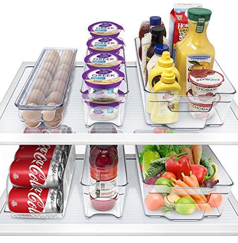 Sorbus Fridge Bins and Freezer Organizer Refrigerator Bins Stackable Storage Containers 6-Piece