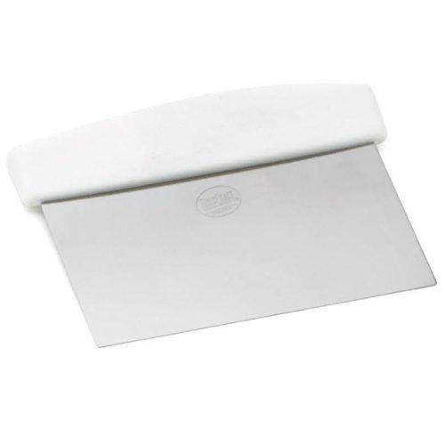 "Tablecraft (4103w) 6"" Stainless Steel Dough Scraper"