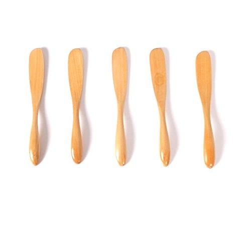 63inch wooden Butter knife jam knife mask knife dumpling knife set of 5