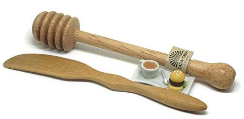 wooden honey dipper stick Wooden Butter Knife