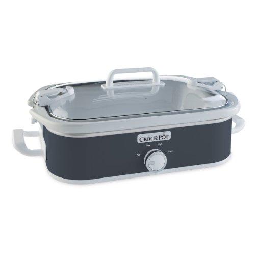 Crock-Pot 35-Quart Casserole Crock Manual Slow Cooker Charcoal
