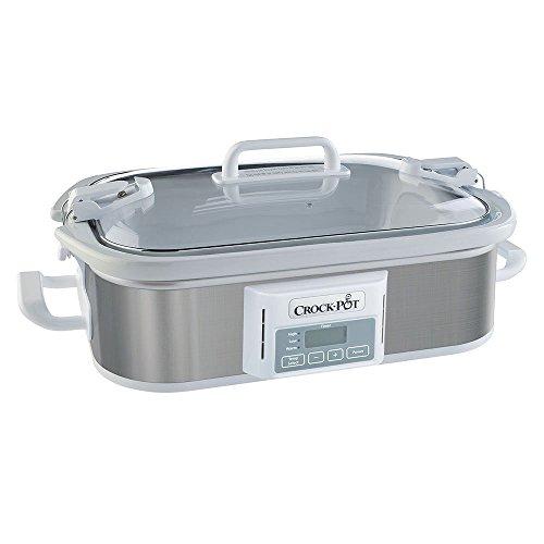Crock-Pot SCCPCCP350-SS Programmable Digital Casserole Crock Slow Cooker 35 quart Stainless Steel